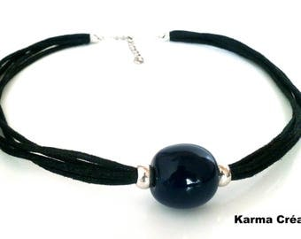 "Ceramic necklace ""marina perla azul"""