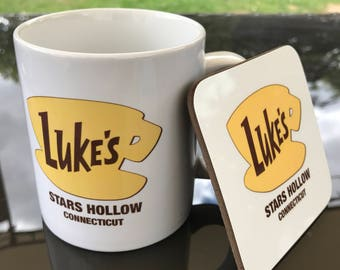 Lukes Diner - Gilmore Girls, mug & coaster gift set