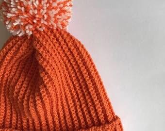Crochet hat, crochet children's hat, crochet bobble hat, crochet beanie, crochet pom pom hat