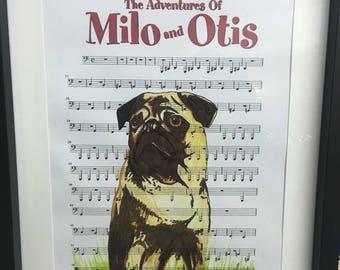 Milo and Otis sheet music art