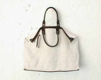 Canvas Bag, Handbag, Canvas Tote Bag Women, Leather Bag, Shoulder Bag, Canvas Travel Bag, Travel Tote Bag, Canvas Weekender, Canvas Handbag