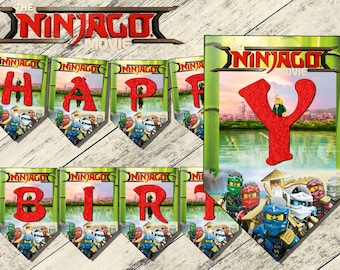lego ninjago banner,lego ninjago movie birthday banner,lego ninjago movie birthday party,ninjago banner,partido lego ninjago,ninjago party,
