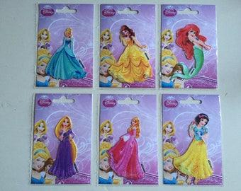 Disney Princesses Appliques Iron On Motifs Patches - Ariel - Cinderella - Belle - Snow White - Aurora - Rapunzel
