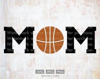 Basketball Mom SVG - Vector / Cut File, Silhouette, Cricut, PNG, JPEG, Clip Art, Stock Photo, Download, Cursive, Sports, Team, Player