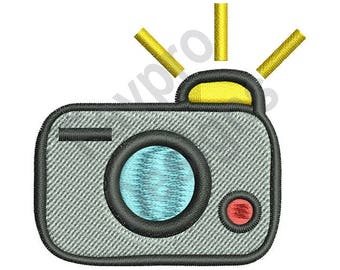 Camera Flash - Machine Embroidery Design