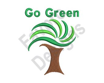 Go Green - Machine Embroidery Design