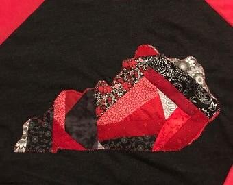 KY Patchwork Appliqued Shirt,  Handmade