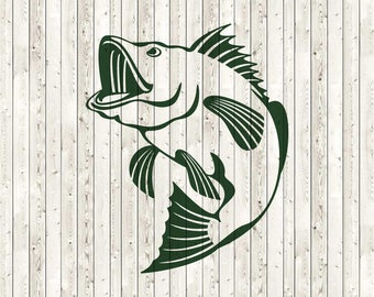 Bass fish SVG, Fishing SVG files, Bass SVG, Vector files for Cutting, Printing, Web Design projects and much more:)
