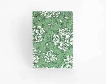 Floral Hardcover Coptic Notebook - 4x6