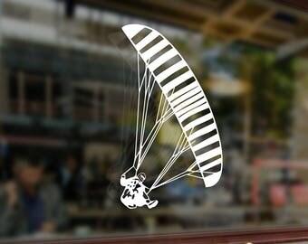 PARAGLIDING Parachutist PPG Vinyl Stickers Funny Decals Bumper Car Auto Computer Laptop Wall Window Glass Skateboard Snowboard Helmet