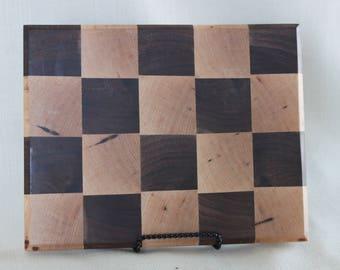 Walnut and Birch End Grain Cutting Board