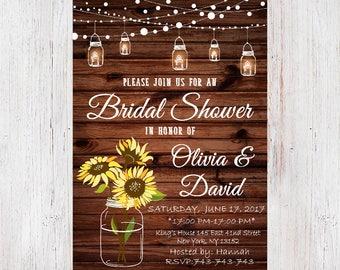 Mason Jar invitation,Rustic Bridal Shower Invitation,Country Bridal Shower Invite,Printable Invitation,Rustic wedding shower invite 16
