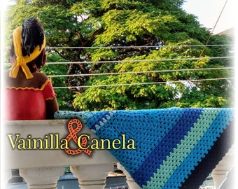 Crochet blanket, patchwork blanket, afghan blanket crochet, manta de ganchillo