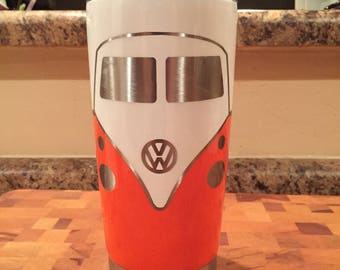 VW Bus -   20oz Tumbler / Two-Tone ( Volkswagen )  Cup / Mug  / Glass / Split Window Type 2