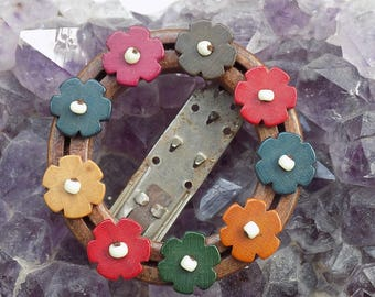 Vintage Floral Hair Slide Grip Clip