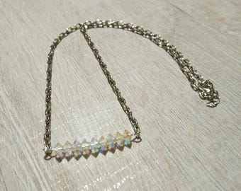 Romantic transparent acrylic beads necklace