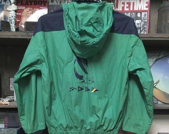 Vintage 90s NUATICA Color Block Hooded Windbreaker Jacket