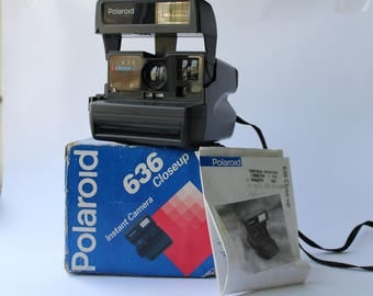Vintage Polaroid Close Up 636, Polaroid Camera, Vintage Camera, Retro Camera, Retro photoCamera, Polaroid, Polaroid 636