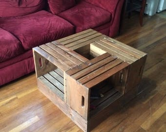 crate coffee table | etsy