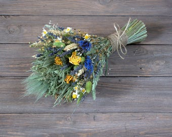 Country bouquet, vintage wedding bouquet, dried flowers, woodland bouquet, rustic home decor wild herbs shabby, country, old cottage style