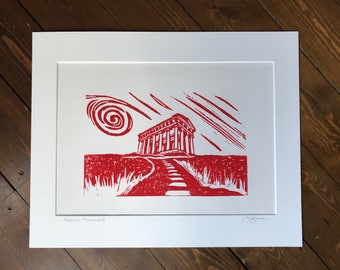 Penshaw Monument, Sunderland - Linocut Print