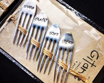 Vintage Cutlery - Cheese ID Markers - made ro order.