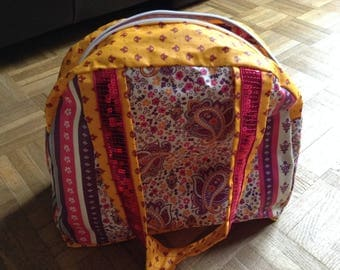 modern bag in coated cotton