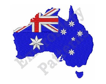 Australian Map - Machine Embroidery Design