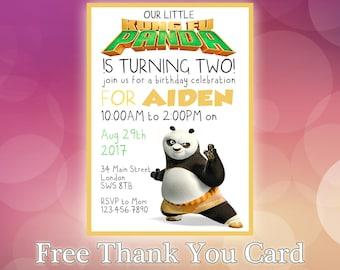 Kung fu Panda Invitation / Kung fu Panda Birthday Invitation / Kung fu Panda Party invitation / Birthday Invite / KP05