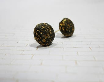 Lava Rock Earrings With Gold Fill Jewelry