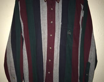 90s Striped Herringbone Shirt