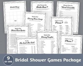 Bridal Shower Games Package, Barbed Wire Fence, Bridal Shower Activities & Printable Set, Instant Download, Pack, Shower Bundle, BSPKG, A023