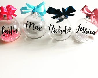 Personalised large Christmas baubles