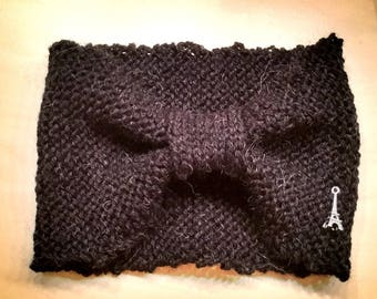 Headbands 100% alpaca with her little Eiffel Tower claw wool knit with love