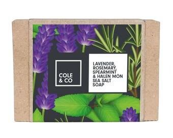 Welsh Handmade Herbal Lavender, Rosemary, Spearmint & Halen Môn Soap