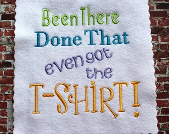 Machine Embroidery T-Shirt Design 8x8