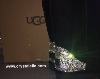 Swarovski Crystal UGG Boots customised by Crystalella Limited