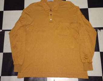 Yves saint laurent long sleeve polo tshirt