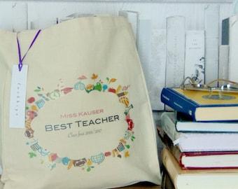 Best teacher tote bag shopper gift thank you
