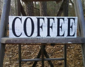 Coffee Wooden Sign Country Decor Primitive Decor Rustic Decor Vintage Decor Farmhouse Decor Kitchen Decor Coffe Bar Decor