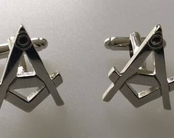 Masonic Square And Compass Cufflink Set Boxed