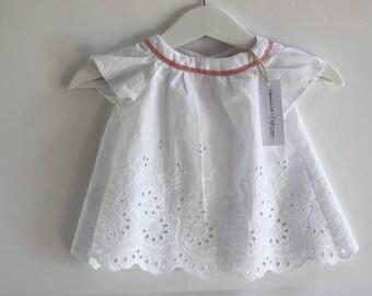 Baby girl eyelet tunic blouse