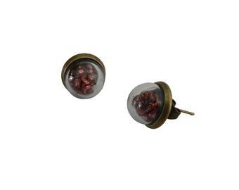 Earrings dome glass