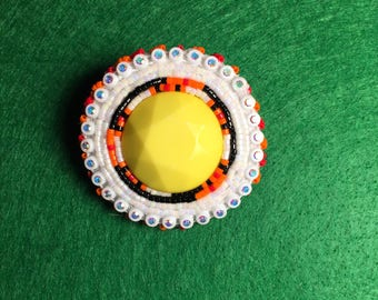Sun Yellow Brooch