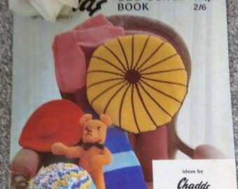 Vintage Knitting & Crochet Odd Ounce Booklet For Tea Cosies, Cushions, Teddies ETC