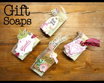 Gift Soaps complete with customizable Tag - Wedding favors// Baby Shower favors// Bridal Shower favors// Thankyou gifts