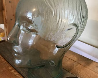 Vintage Glass Head