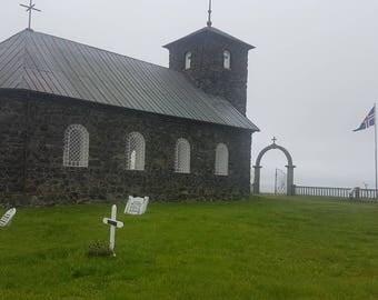 Icelandic nature and Icelandic church