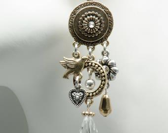 Charm Dangle Chandelier Earrings