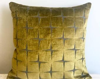 Olive Green Velvet Pillow Cover Pillow Velvet Green Pillow Designer Pillow Velvet Pillow Velvet Cushion Covers olive Green Sofa Pillow Cover